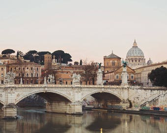 Rome Print, Vatican St Peter's Basilica, Rome Photography Print, Italy Wall Art, Italy Gift, Rome Italy Skyline, Fine Art Photography