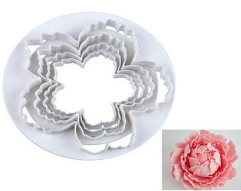 Easy Peony Cookie Cutter, Daisy Cookie Cutter, Rose Flower Cookie Cutter, Blossom Carnation Cookie Cutter, Flower Blossom Cookie Cutter