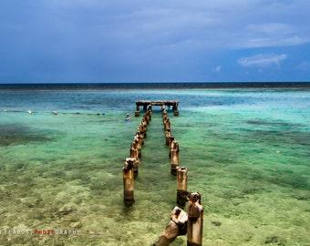 Dunn's River Falls beach, Ocho Rios Jamaica, Colourful Caribbean photography print