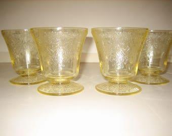Florentine No.2 Yellow Juice Tumblers