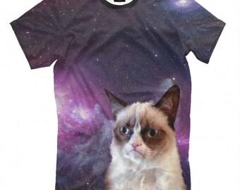 Space Grumpy Cat  Full Print T-Shirt