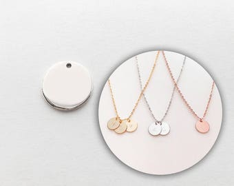 4 Silver Plated Coin Disc 4PC-S