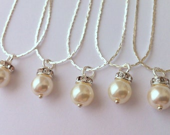 5 Bridesmaid Gift Necklaces, Simple & Elegant - gift under 15