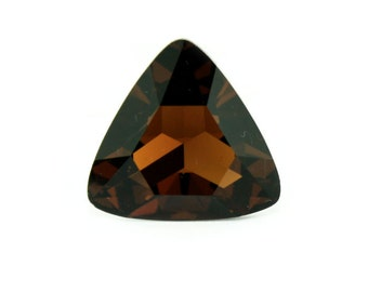 Swarovski elements triangle 23 mm * 23 mm Smoked Topaz