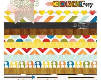 Glitz Design Color Me Happy 8x8 Paper Pad -- MSRP 10.00