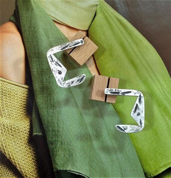 cool earrings | industrial jewelry | handmade earrings, one of a kind | oxidized earrings