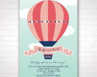 DIY Hot Air Balloon Shower Invitation