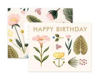 Lush Botany Birthday Card - Cream