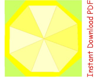 Lemon slice paper pieced PDF Sewing Pattern INSTANT DOWNLOAD