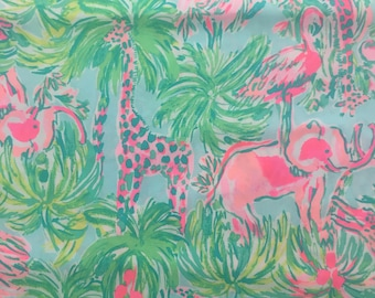 """multi on parade poplin cotton fabric square 18""""x18"""" ~ lilly summer 2018 ~  lilly pulitzer"""