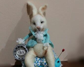 Follow the White Rabbit pincushion
