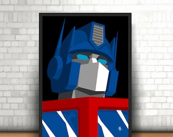 Optimus Prime, The Transformers - Original Art - Poster Print