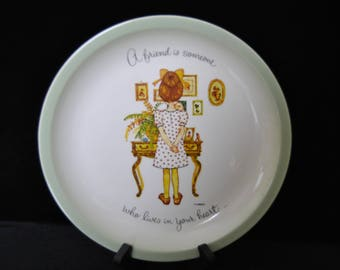 "Holly Hobbie Collectors Plate..""A Friend is Someone"""
