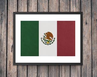 Mexico Flag Art Print