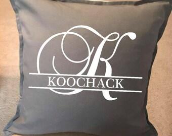 Custom Pillow, monogram pillow, couch pillow, throw pillow, wedding gift, gifts,  personalized pillow, home decor,  20x20 pillow, initial