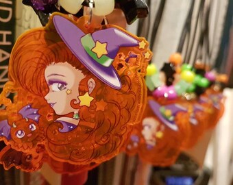 UV orange acrylic Halloween necklace