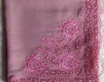 Crystal Lace Square Scarf