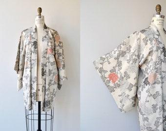 Yasu silk haori | vintage 1950s silk kimono | 50s short kimono jacket