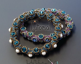 TUTORIAL Tentacle Bangle Bracelet Beaded with Honeycomb Weave