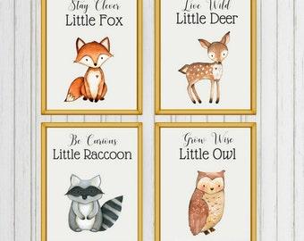 Woodland Nursery, Woodland Animals, Woodland Forest Animals, Woodland Nursery Decor, Woodland Creatures, Nursery Wall Art, Nursery Prints