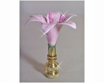 Lilly Lamp Finial Hand Crafted Custom Colors