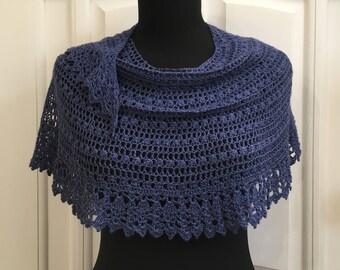 Crochet Shawl Scarf Wrap DIY Kit, Alpaca Wool Silk Soft Lace Knit Handwoven Stole, Warm Crescent Russian Shawl, Cashmere Wrap, Pattern PDF