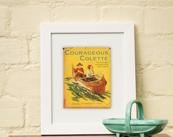 Art, graphic, personalised, print, gifts for her, vintage, book, print, canoeing, canoe