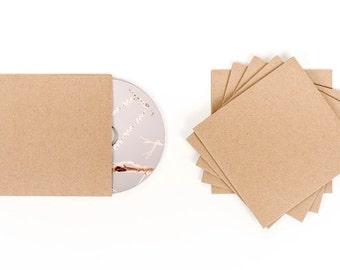 20 Cd Sleeves| Wedding Cd| Wedding Favor| Cd Case| Cd Sleeves| Cd| Kraft Cd Sleeves| Kraft Paper| Kraft Cd Sleeve| Cd Cover| Kraft Sleeve