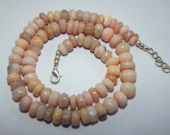 on sale 25% sale wholesale price 189 ct approxx 1 strands natural pink Opal rondelle Beads pink opal size 7x9 mm 19 inch strand