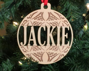 Gifts for Dad, Personalized Christmas Ball Ornament Fathers Day