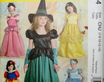 McCall's 5494 Girl's Princess-Witch-Snow White- Costume Sewing Pattern New/Uncut Size 7-8-10-12-14
