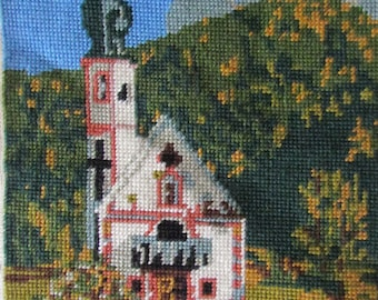 tapestry picture - church scene