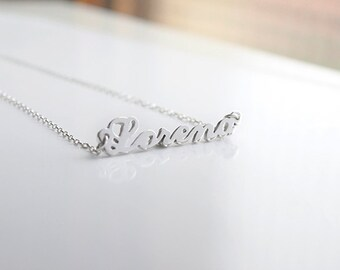 Handmade Name pendant. Letters pendant. Name necklace. Handcutted. Personalized pendant. Your name on silver.