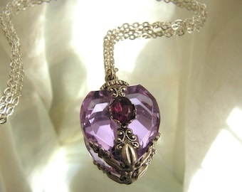 Perfume Bottle Necklace Crystal Perfume Or Essential Oil Bottle Necklace