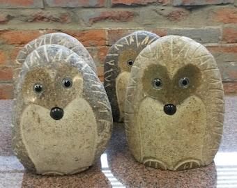 """NEW!  6"""" Stone Rock Boulder Hedgehog"""