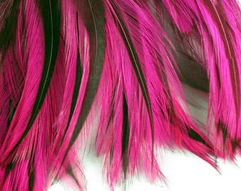Pink Feathers neck ANB 14 craft feathers fly tying facinators