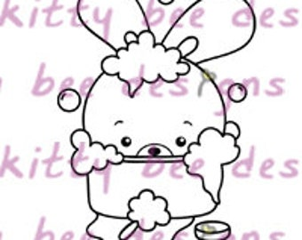 Rub A Dub Bun Digital Stamp