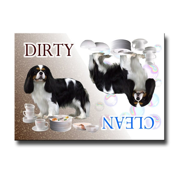 Cavalier King Charles Spaniel Clean Dirty Dishwasher Magnet No 1