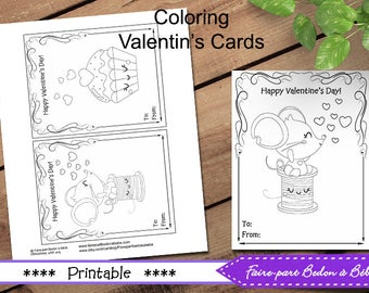 Valentine's Day Tags printable - Instant Download - Valentine's Day Cards