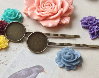 63 mm Antique Bronze Bobby Pins With 16 mm Round Pad (.ns)