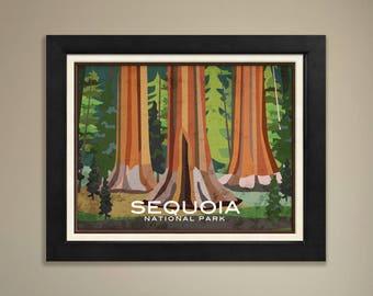 Sequoia Framed National Park Print