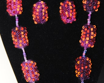 Beaded knitted barrels as we like them
