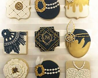 Gatsby inspired cookies, 20s cookies