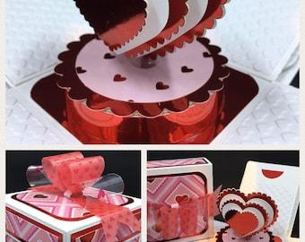 Valentine's Gift Card Exploding Box