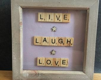 Live Laugh Love Scrabble Art