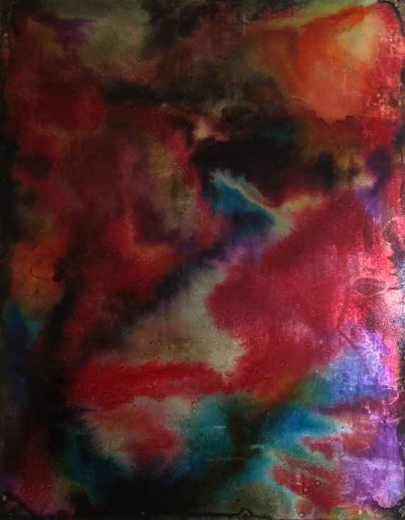"""Original Alcohol Ink Abstract Painting: """"Good Fortune"""""""