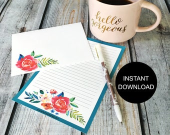 Stationery Set | bella bouquet | letter writing set | digital | instant download | printable