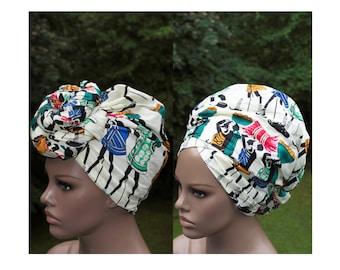 African Head Scarf/ African Head Scarves/ African Head wrap/ African Turban wrap/ African headwrap/ Beige/ Tess World Designs/ HT192