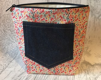 Pin pocket Liberty project bag