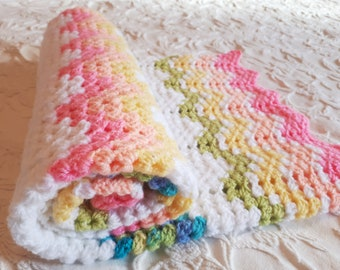 Crochet baby blanket, baby shower gift, stroller blanket, cell blanket, handmade redy to ship